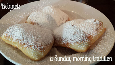 Homemade beignets - a Sunday morning tradition
