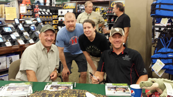 Troy Landry, my husband (Joel), me (Desi) and Jacob Landry