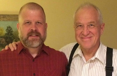 My husband, Joel and his father, Peter - October 2014
