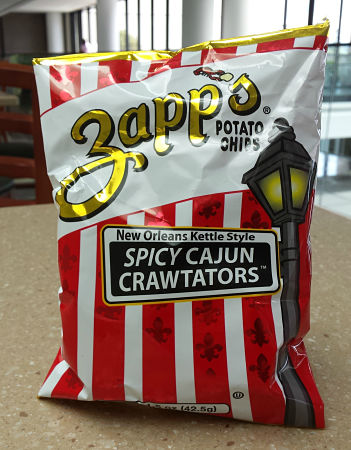 I'm always happy to see Cajun products out in the wild. I found these Zapp's chips in the cafe' in my office building.