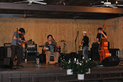 A traditional Cajun band playing at a Cajun wedding reception