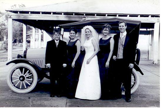Yellow bird and my siblings at my wedding