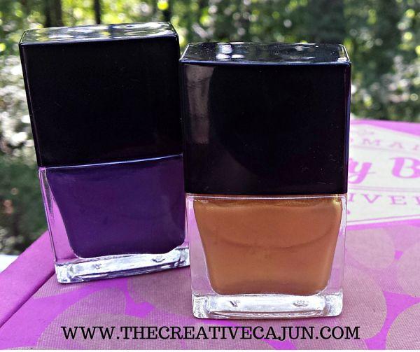 Custom purple + gold nail polish